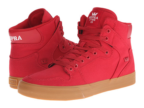 Supra - Vaider (Cardinal Canvas/Red Hardware) Skate Shoes