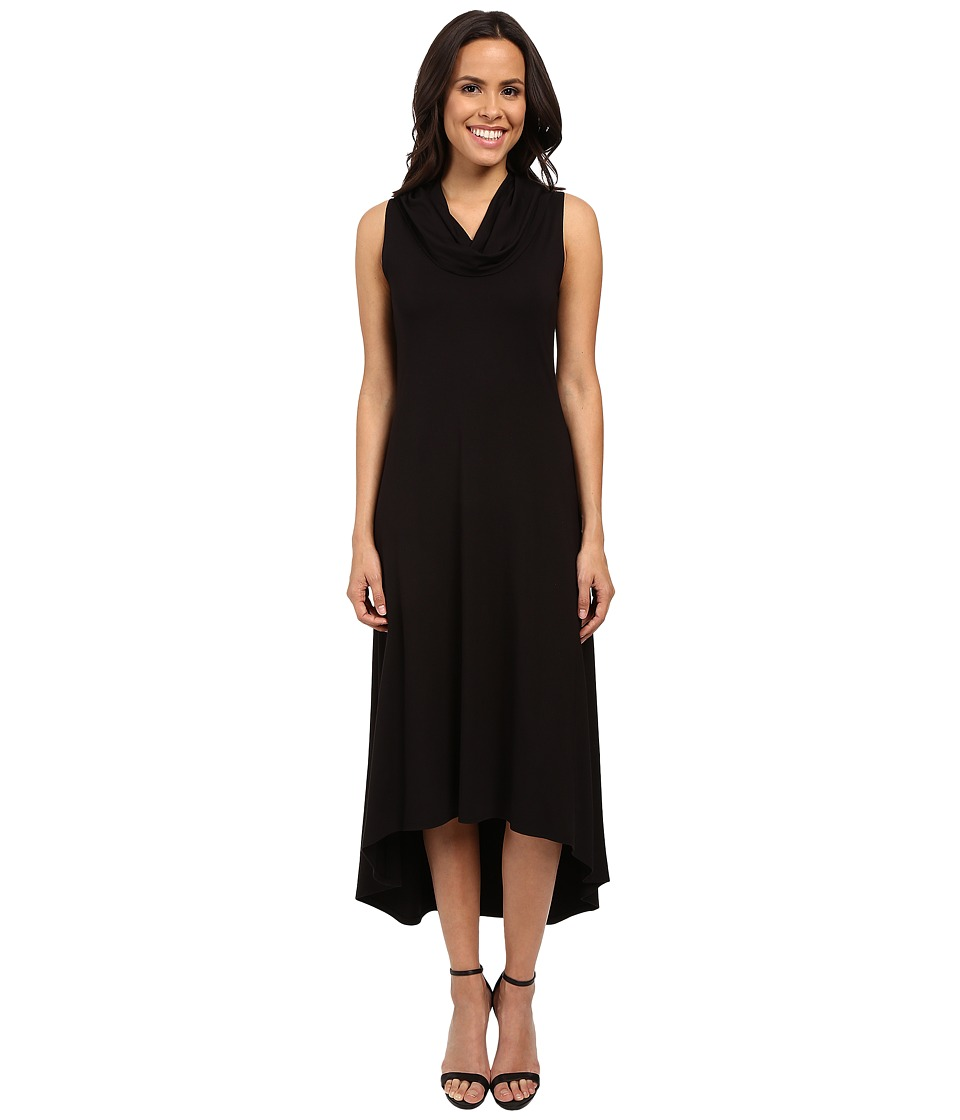 Karen Kane - Katie Cowl Neck Maxi (Black) Women's Dress