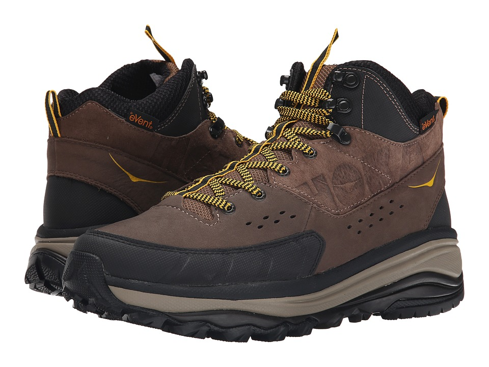 Hoka One One - Tor Summit Mid WP (Brown/Golden Rod) Men's Running Shoes