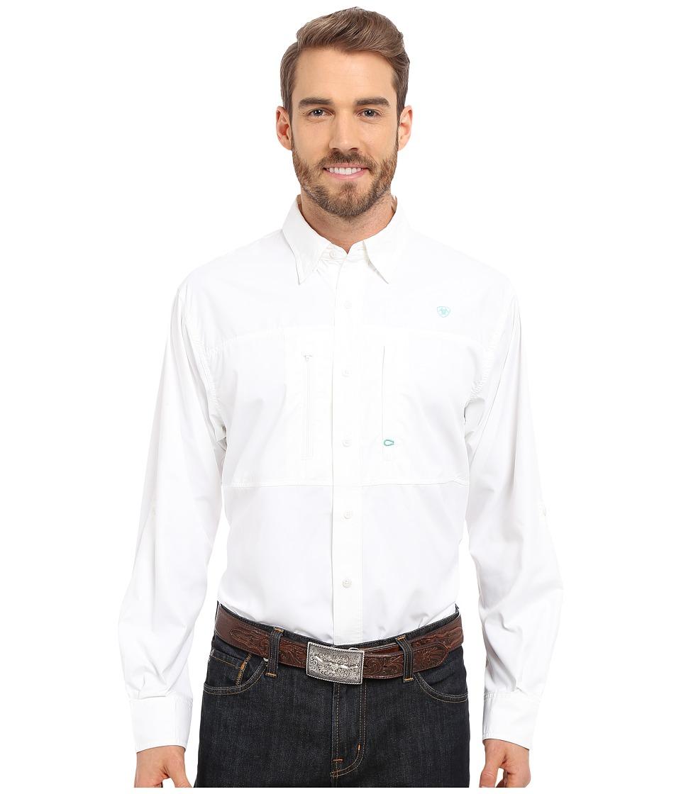 Ariat Venttek Performance Long Sleeve White Mens Long Sleeve Button Up