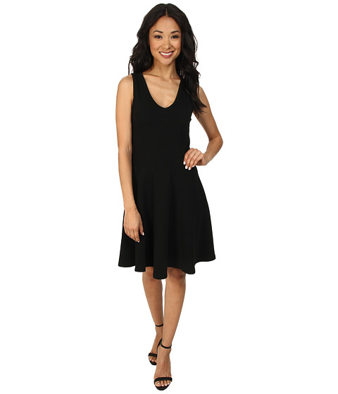 Karen Kane - Kerry V-Neck Panel Dress (Black) Women's Dress