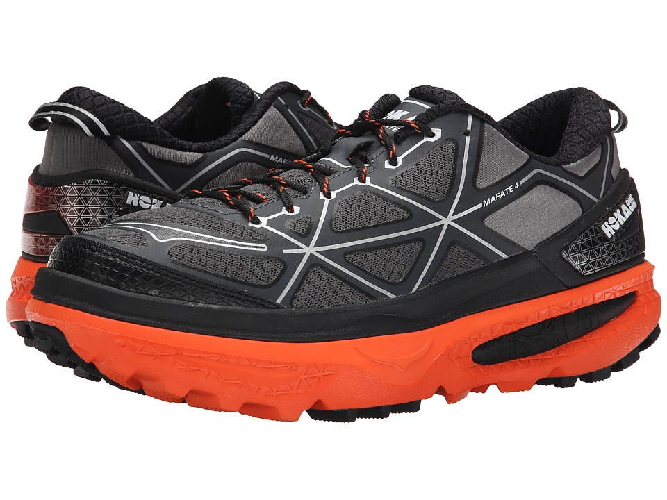 Hoka One One - Mafate 4 (Grey/Flame) Men's Running Shoes