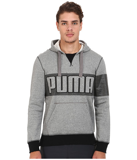 PUMA - Progressive Hoodie II (Medium Gray Heather) Men