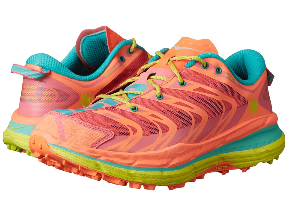 Hoka One One - Speedgoat (Neon Coral/Aqua) Women's Running Shoes