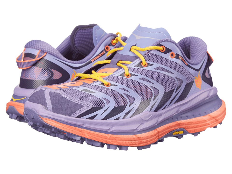 Hoka One One - Speedgoat (Corsican Blue/Neon Coral) Women's Running Shoes