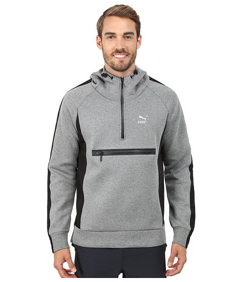 PUMA - Evo Savannah Hoodie (Medium Gray Heather) Men