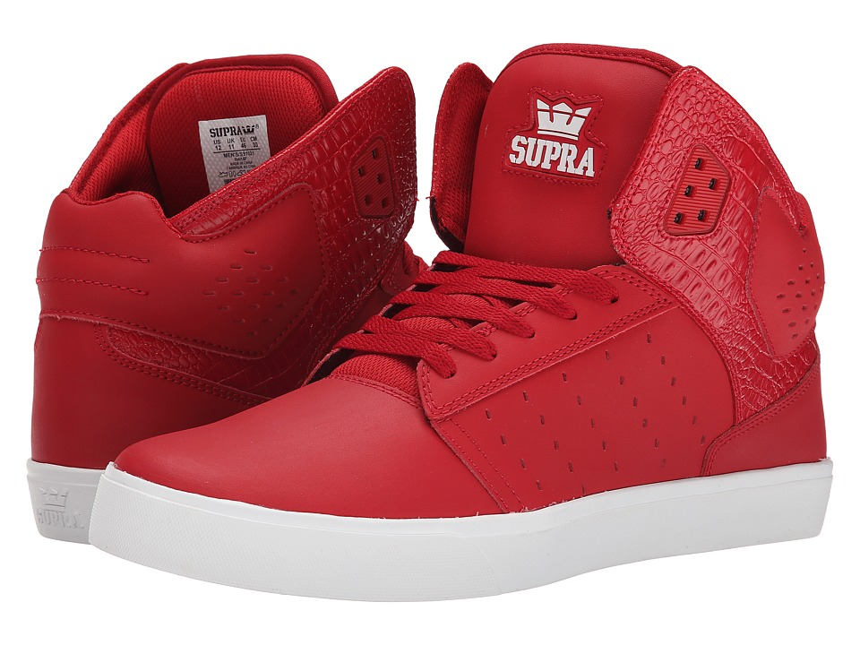 Supra - Atom (Cardinal Leather/Perforated Leather/Cardinal Accents) Men's Skate Shoes