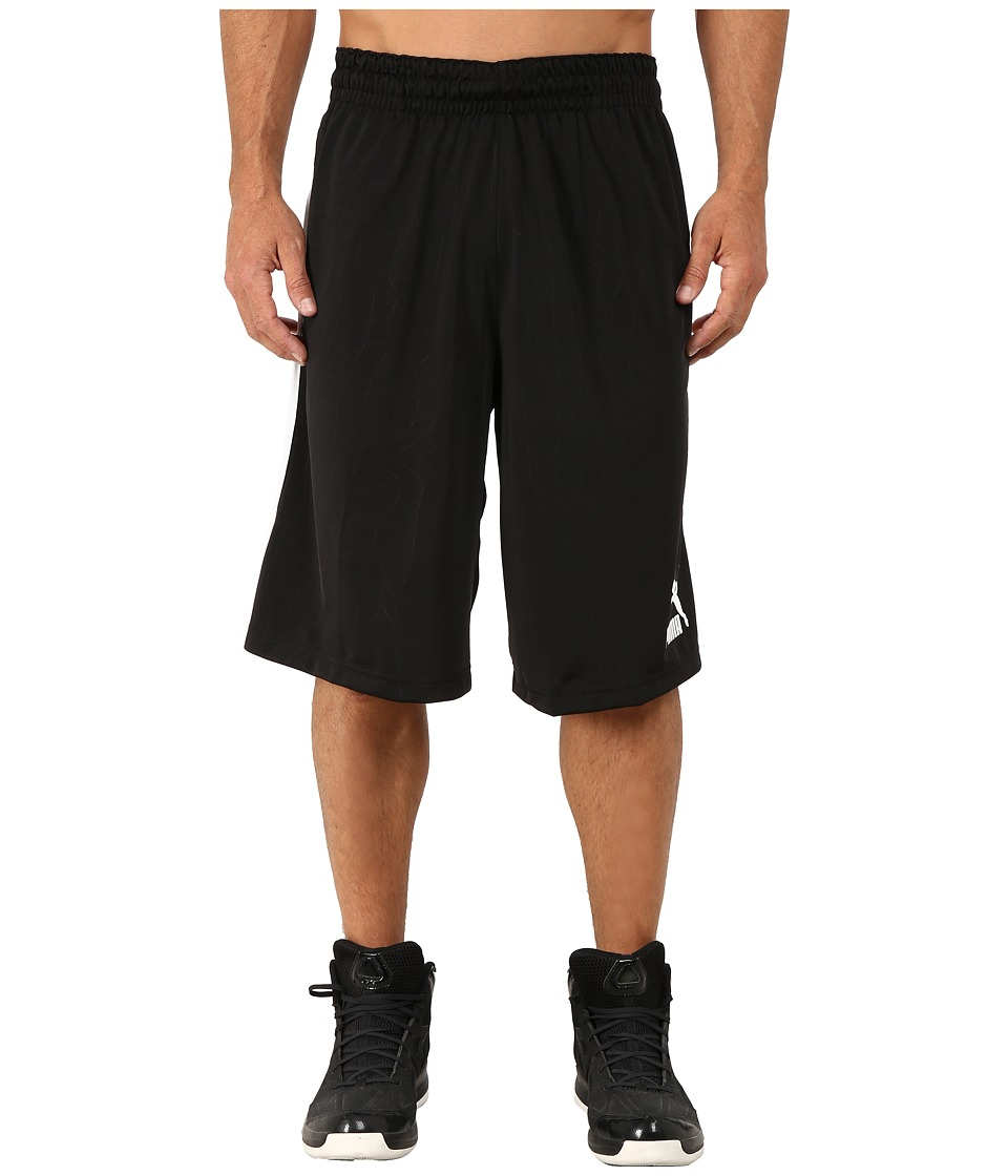 PUMA - 12 Hoop Shorts (Black/White) Men's Shorts