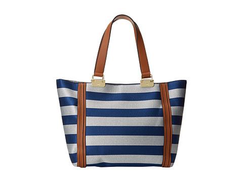 Ivanka Trump - Briarcliff Double Shoulder (Cobalt Woven Stripe) Shoulder Handbags