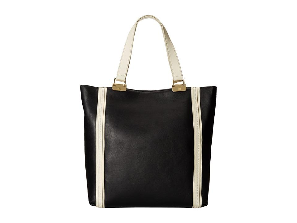 Ivanka Trump - Briarcliff Shopper (Black Oil Tan Spectator) Shoulder Handbags