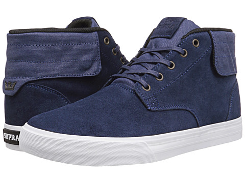 Supra - Passion (Navy Suede/Navy Waxed Canvas) Men's Skate Shoes