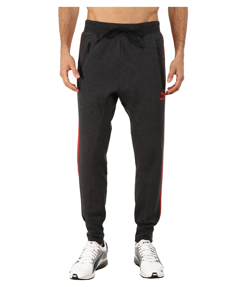 PUMA - Evo Sweat Pants (Dark Gray Heather) Men's Casual Pants