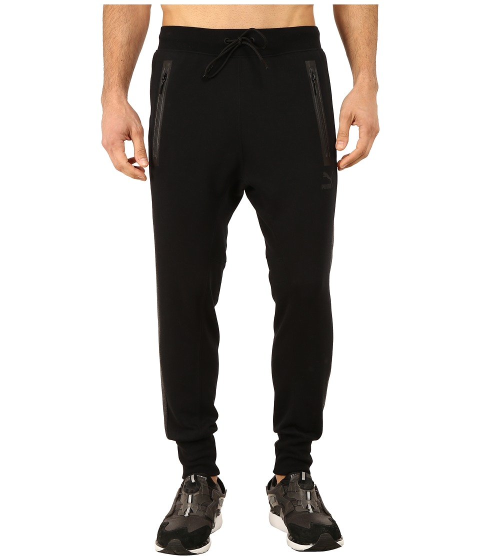 PUMA - Evo Sweat Pants (Black/Dark Gray Heather) Men's Casual Pants