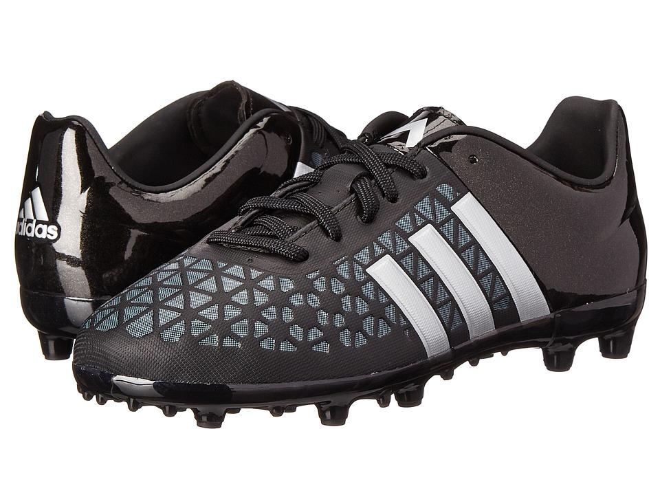 adidas Kids - Ace 15.3 FG/AG J Soccer (Little Kid/Big Kid) (Black/Silver Metallic/Black) Kids Shoes