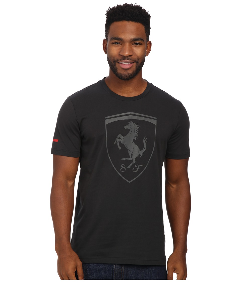 PUMA Ferrari Big Shield Tee (Moonless Night) Men