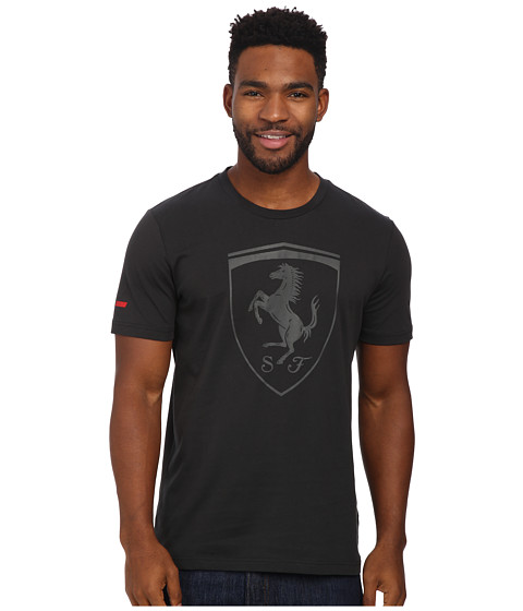 PUMA - Ferrari Big Shield Tee (Moonless Night) Men's T Shirt