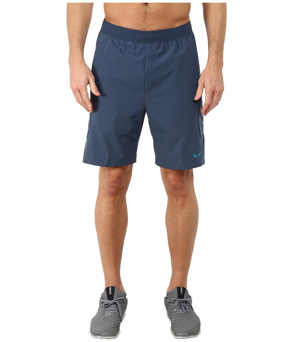 Nike - Vapor 8 Short (Squadron Blue/Radiant Emerald/Radiant Emerald) Men