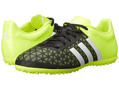 adidas Kids - Ace 15.3 TF J Soccer (Little Kid/Big Kid) (Black/White/Solar Yellow) Kids Shoes