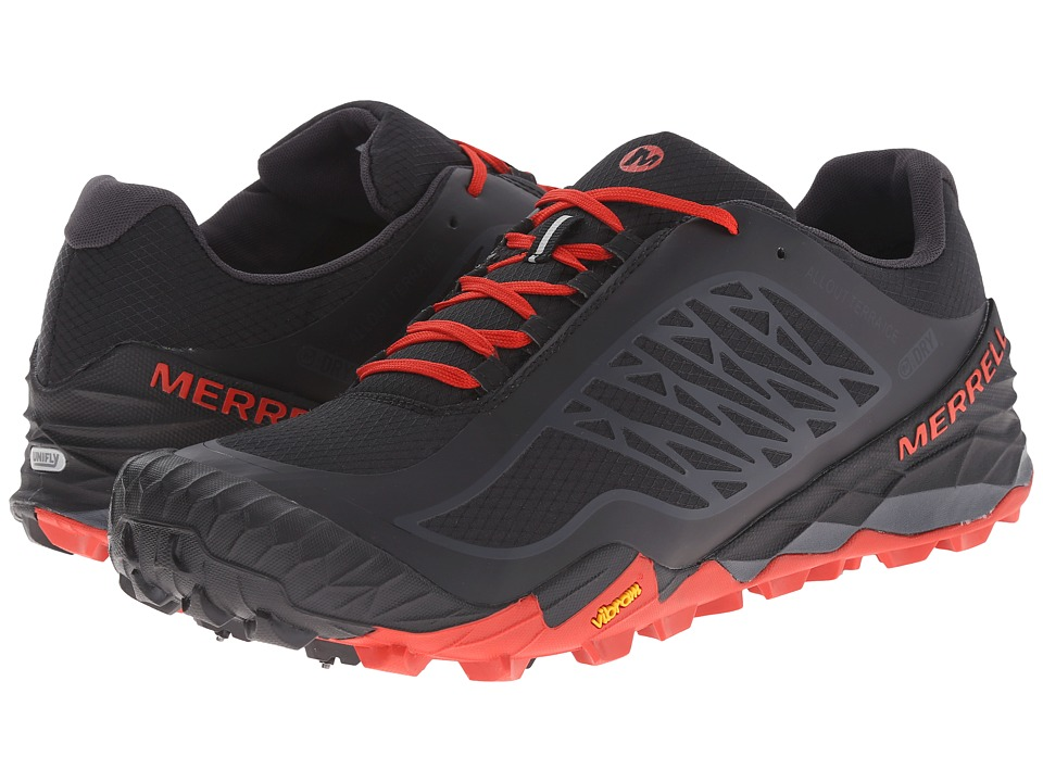 Merrell - All Out Terra Ice Waterproof (Black/Molten Lava) Men