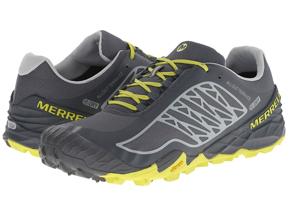 Merrell - All Out Terra Ice Waterproof (Turbulence/Bright Yellow) Men