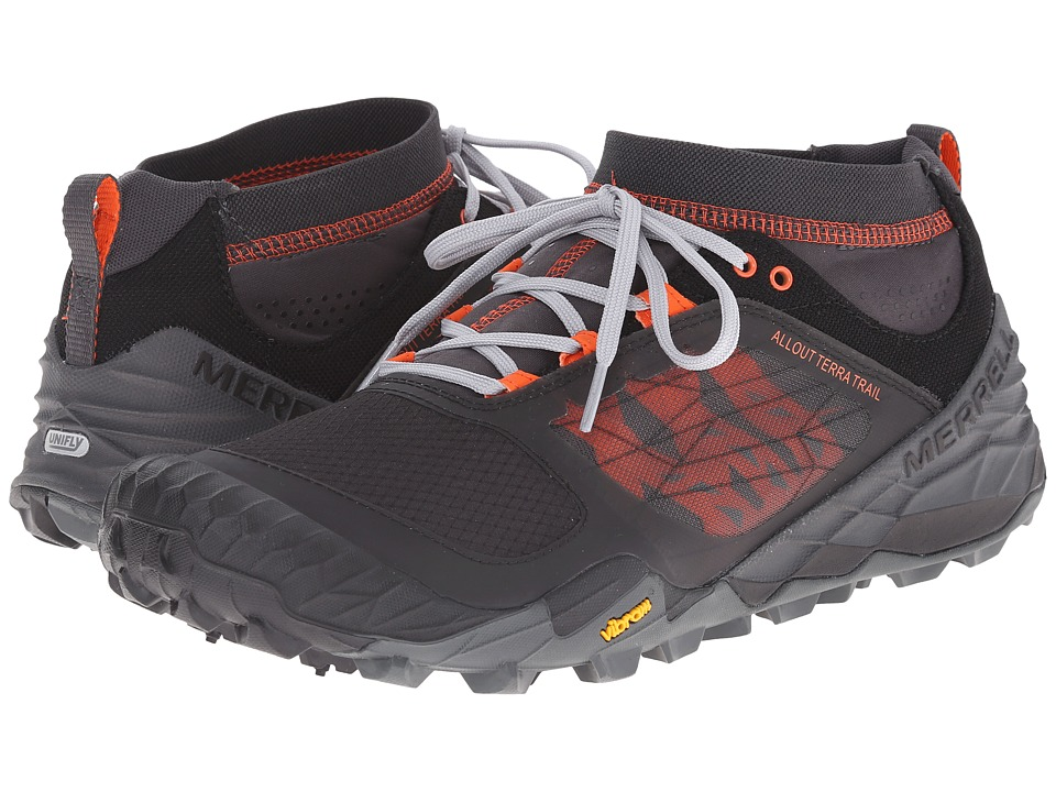 Merrell - All Out Terra Trail (Black/Orange) Men's Running Shoes
