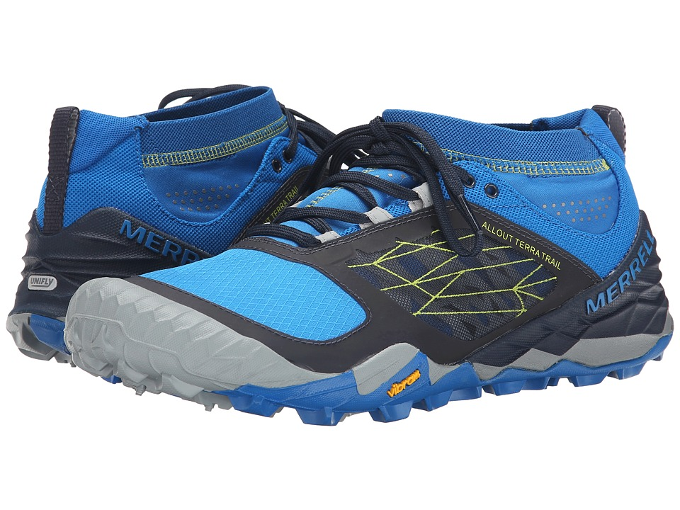 Merrell - All Out Terra Trail (Blue/Dragonfly) Men's Running Shoes