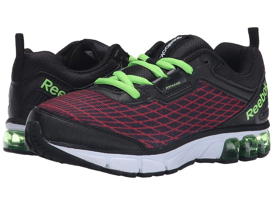 Reebok Kids - Jet Dashride (Little Kid) (Red Rush/Black/Solar Green) Boys Shoes