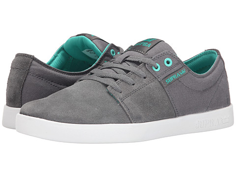 Supra - Stacks II (Charcoal Suede/Canvas) Men's Skate Shoes