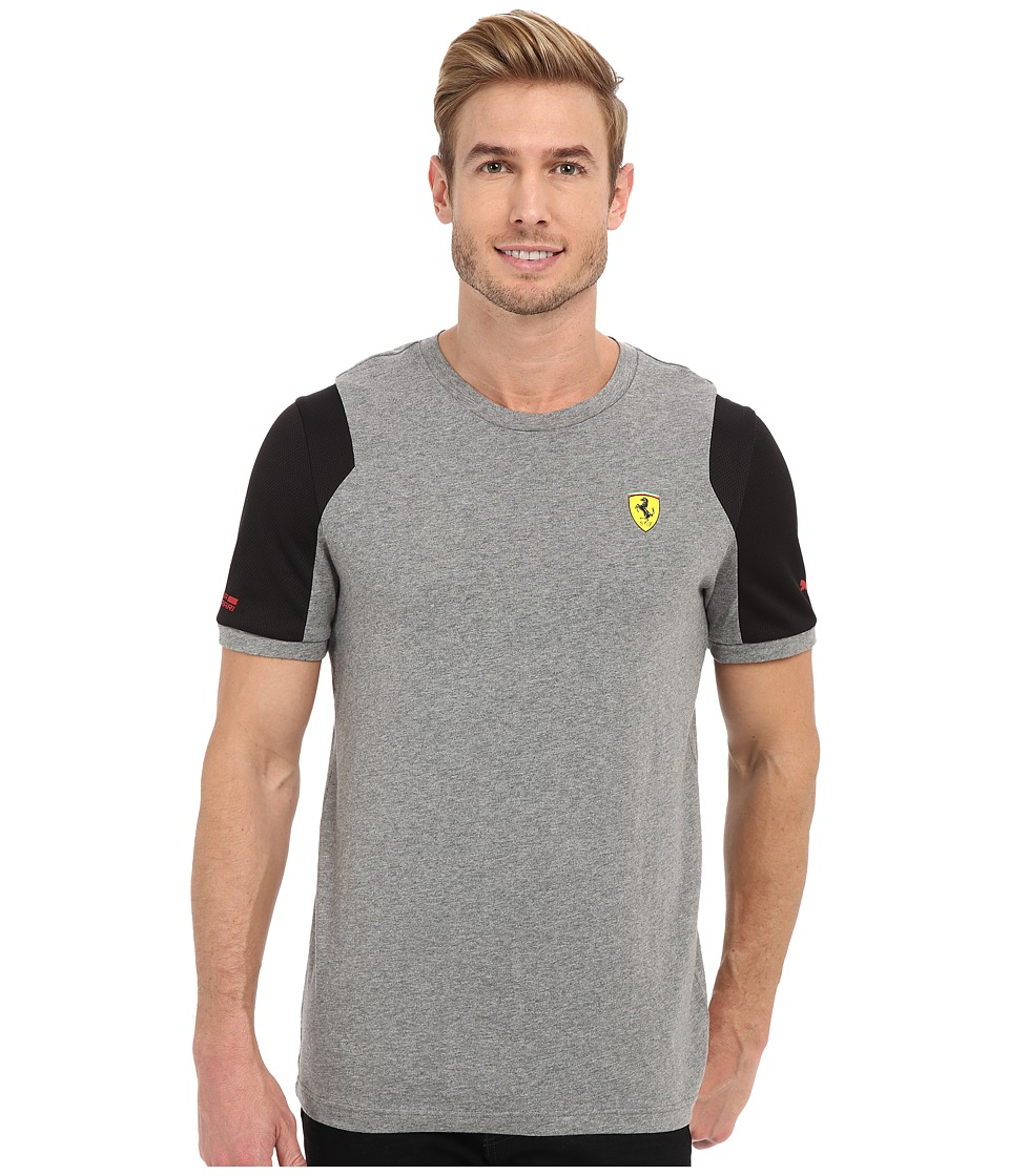 PUMA - SF Tee (Medium Gray Heather) Men's Short Sleeve Pullover