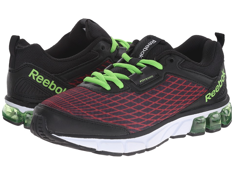 Reebok Kids - Jet Dashride (Big Kid) (Red Rush/Black/Solar Green) Boys Shoes
