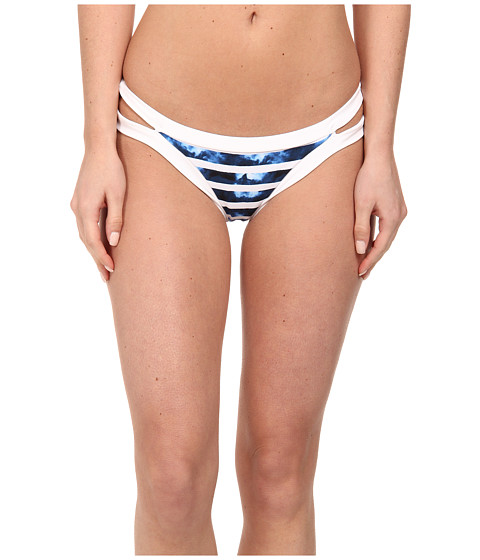 Seafolly - Inked Stripe Brazillian Pants (Caribbean) Women