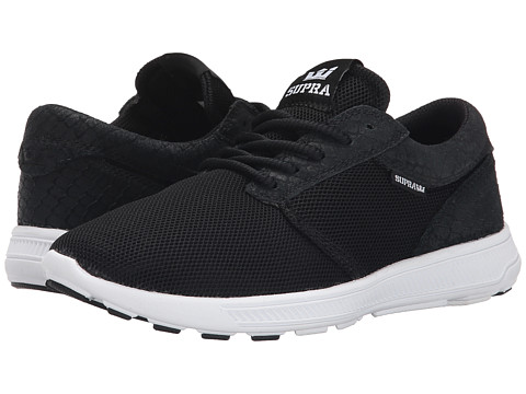 Supra - Hammer Run (Black Mesh/Snakeskin Embossed Suede) Women's Skate Shoes