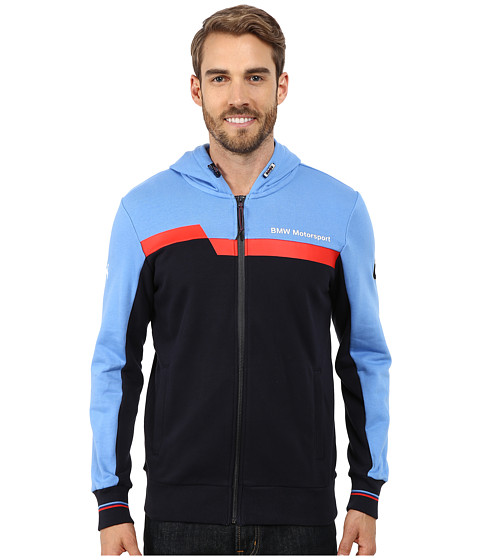 PUMA - BMW MSP Hooded Sweat Jacket (Marina Blue) Men's Coat