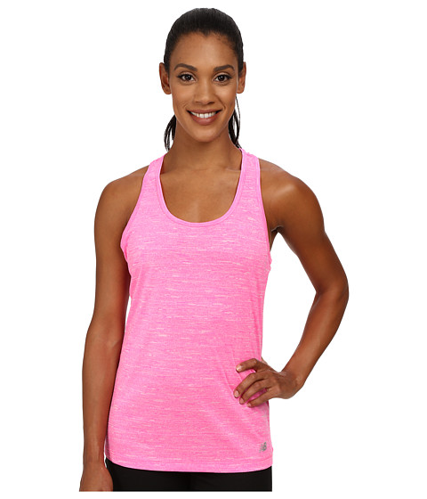 New Balance - Fashion Tank Top (Amp Pink Heather) Women's Sleeveless