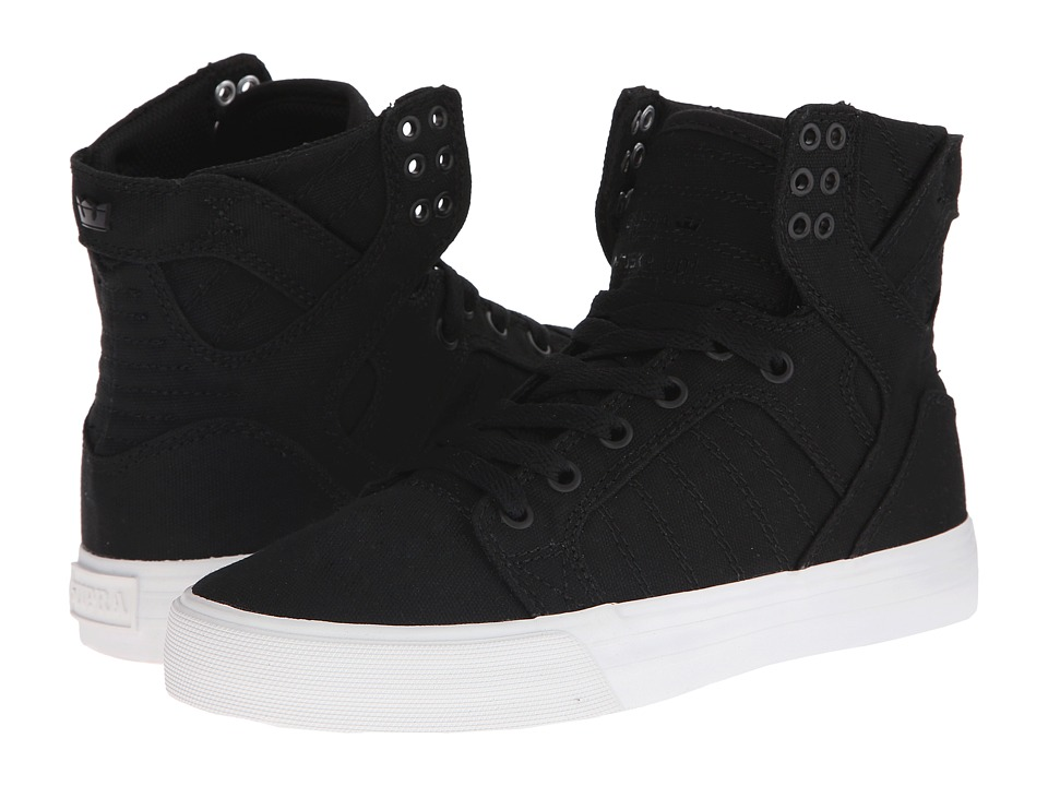 Supra - Skytop D (Black Canvas) Women's Skate Shoes
