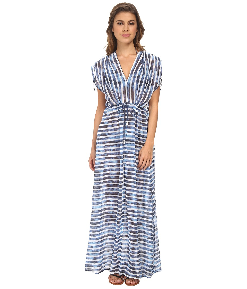 Seafolly - Inked Stripe H2O Maxi Cover-Up (Caribbean) Women's Swimwear