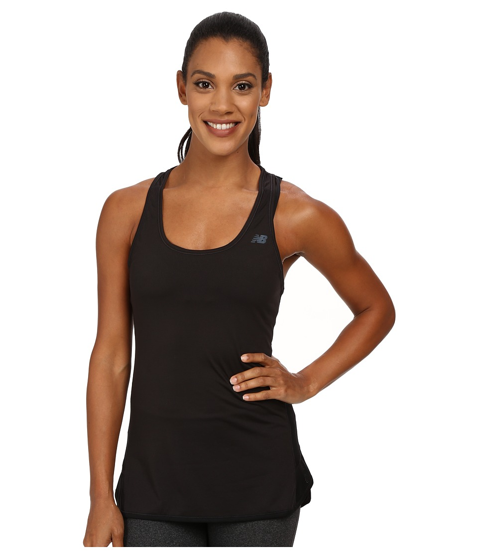 New Balance - Fashion Tank Top (Black) Women's Short Sleeve Pullover