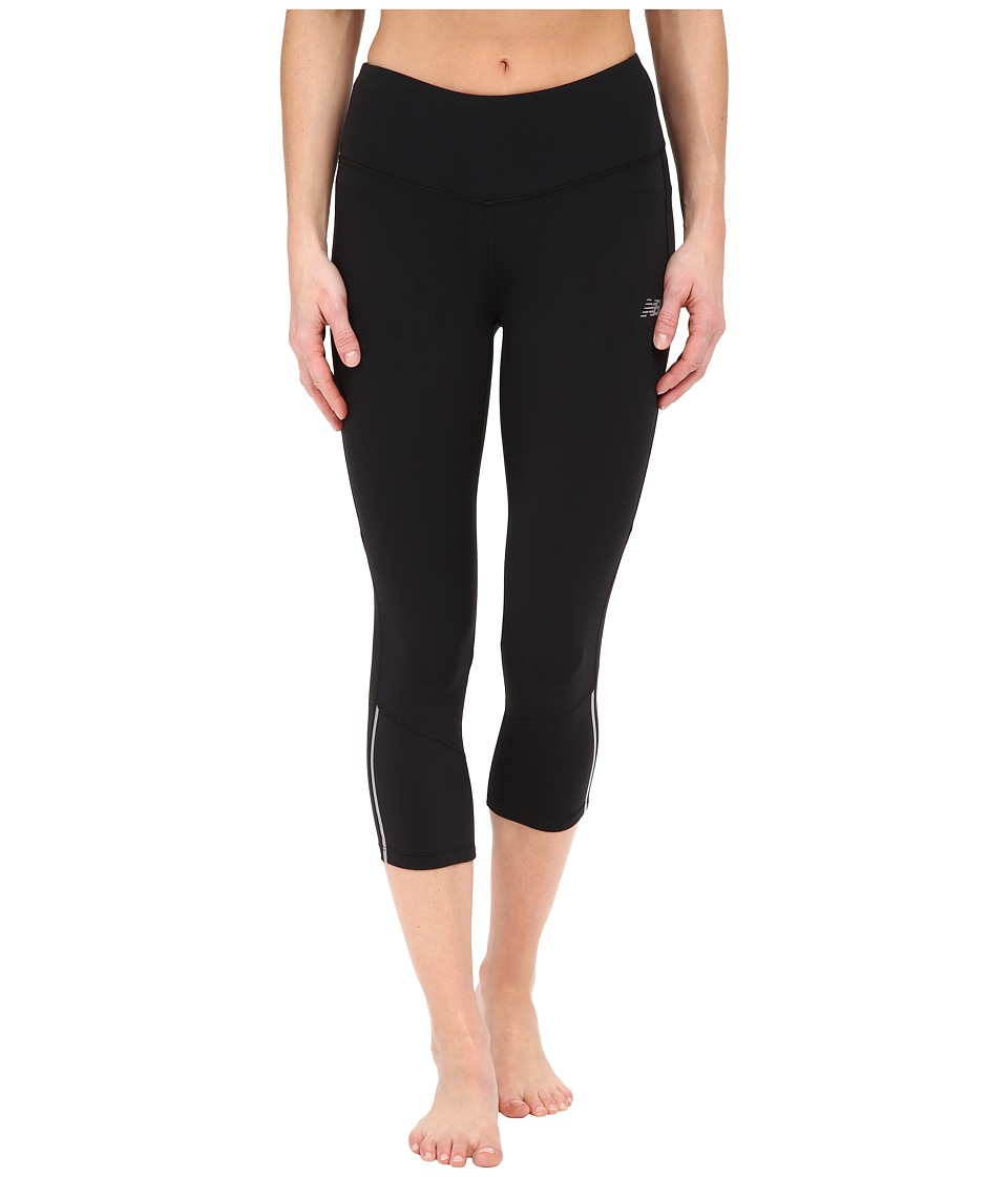 New Balance - Tech Run Capris (Black) Women's Capri