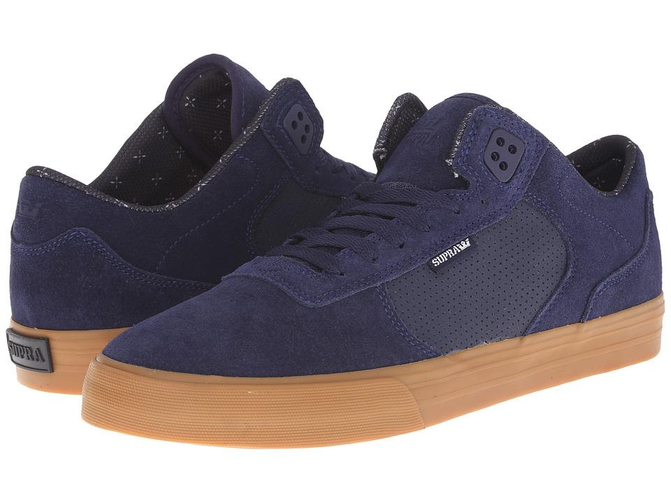 Supra - Ellington Vulc (Navy Suede) Men's Skate Shoes