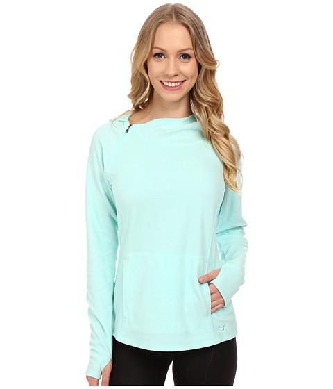 New Balance - Cozy Performance Fashion Hoodie (Arctic Blue) Women's Sweatshirt