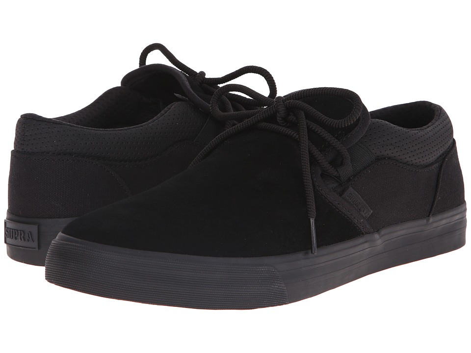 Supra - Cuba (Black Suede/Canvas) Men's Skate Shoes