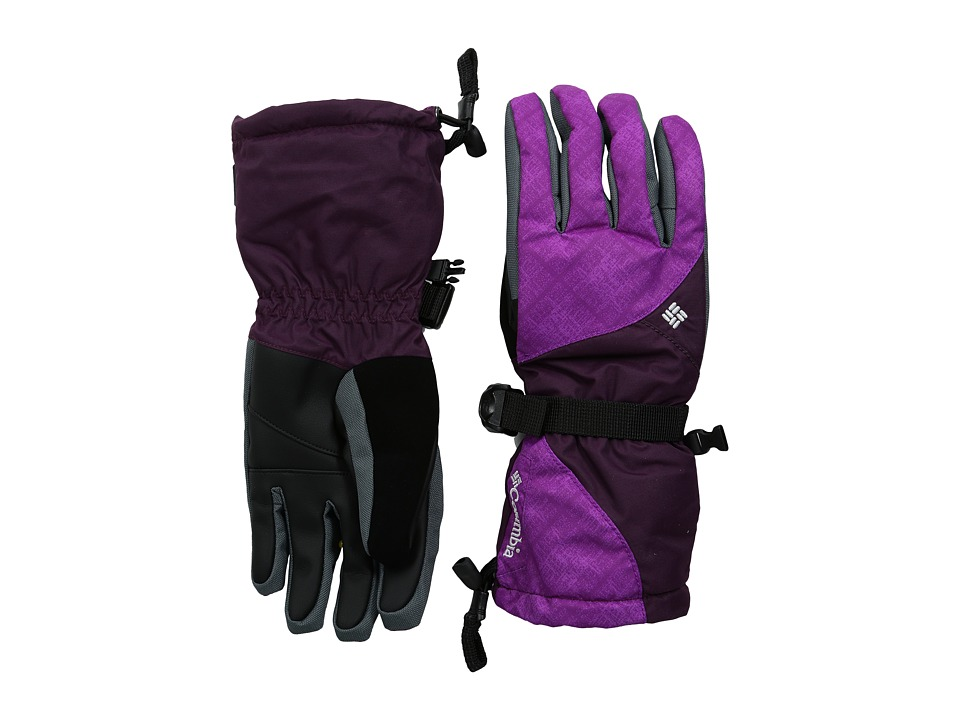 Columbia - Whirlibird III Glove (Bright Plum Plaid Print/Purple Dahlia) Extreme Cold Weather Gloves