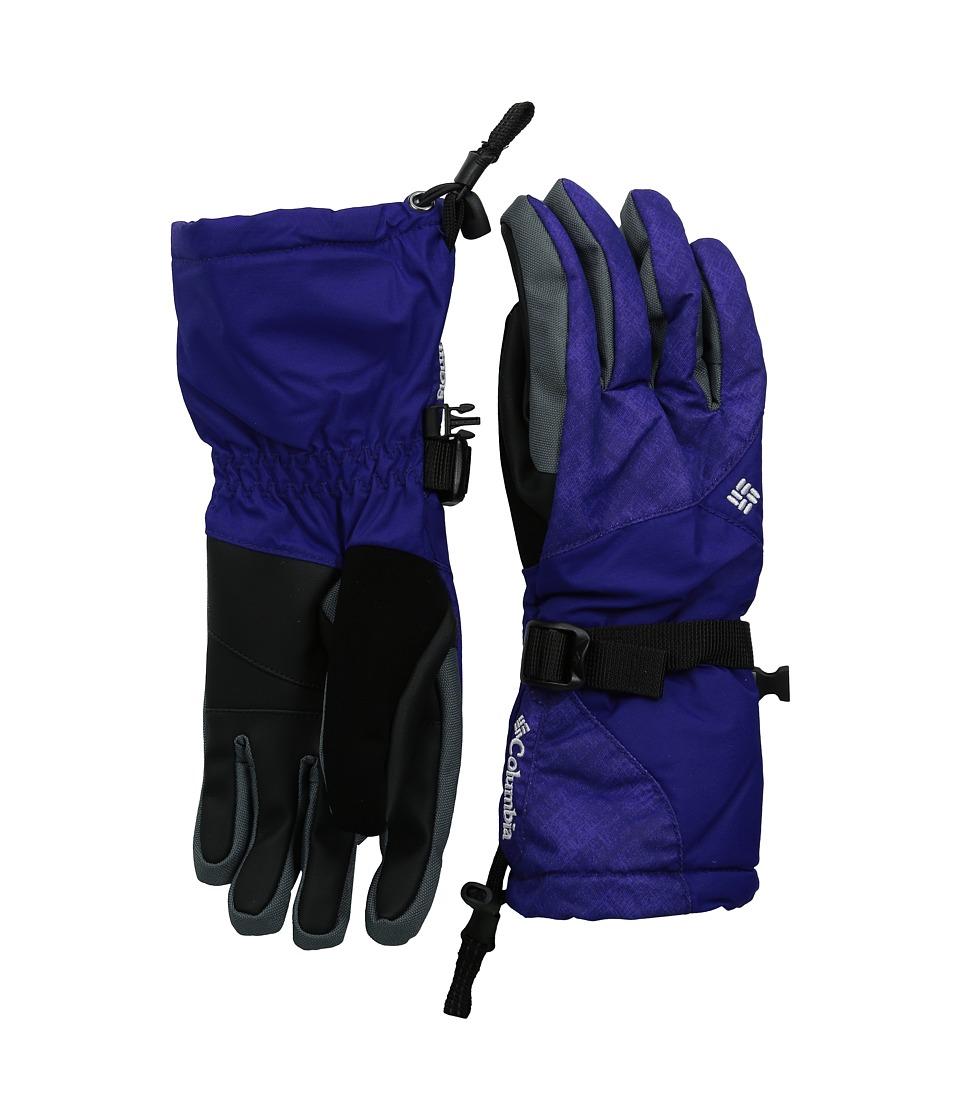 Columbia - Whirlibird III Glove (Hyper Purple Plaid Print/Hyper Purple) Extreme Cold Weather Gloves