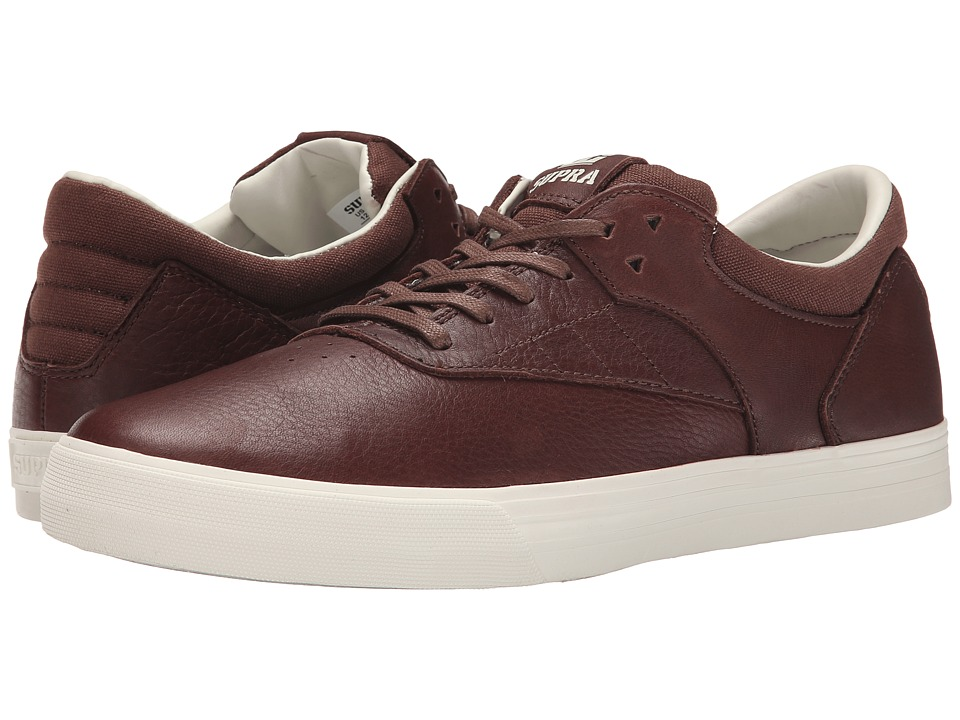 Supra - Phoenix (Chocolate Full Grain Leather/Canvas) Men