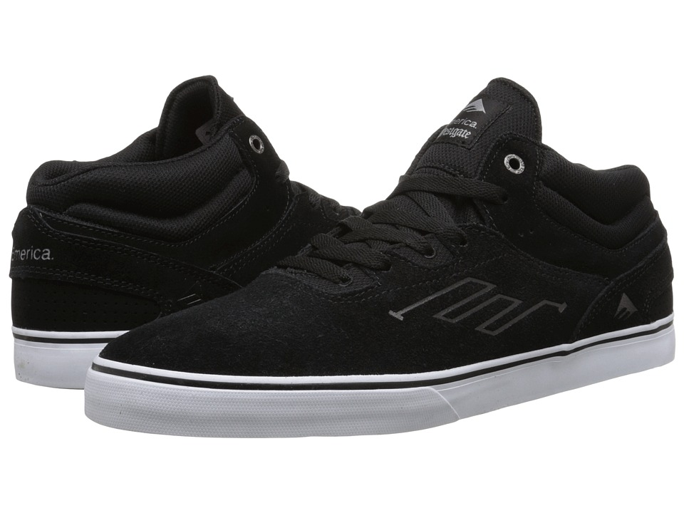 Emerica - The Westgate Mid Vulc (Black/White) Men's Skate Shoes