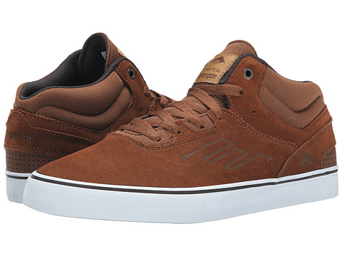 Emerica - The Westgate Mid Vulc (Brown/White) Men's Skate Shoes
