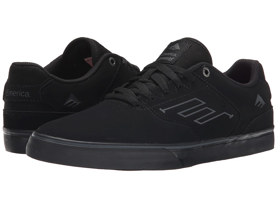 Emerica - The Reynolds Low Vulc (Black/Black/Black) Men