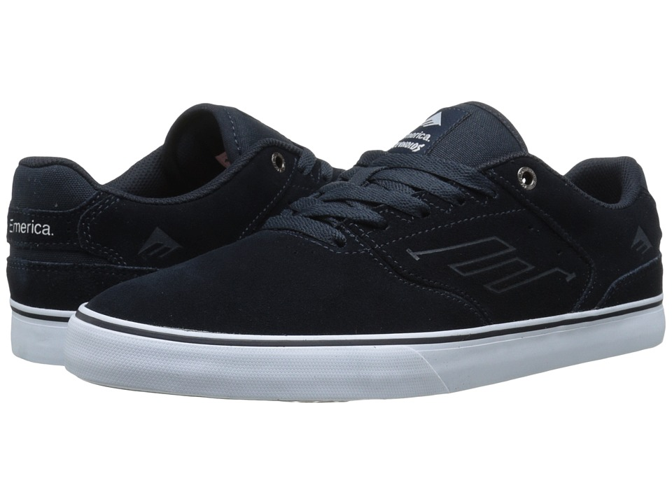 Emerica - The Reynolds Low Vulc (Navy/White/Gum) Men's Skate Shoes