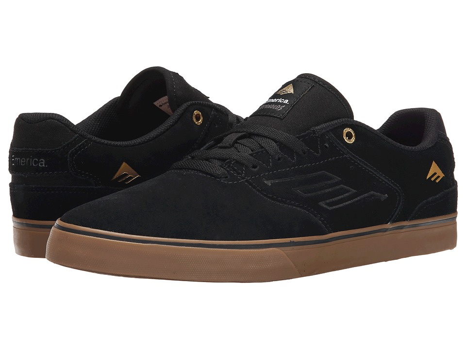 Emerica - The Reynolds Low Vulc (Black/Gum) Men's Skate Shoes