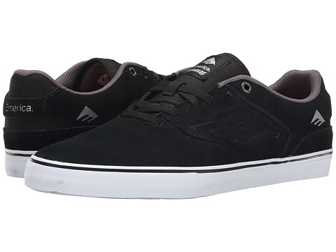 Emerica - The Reynolds Low Vulc (Black/White/Silver) Men's Skate Shoes